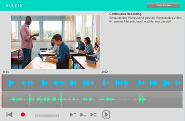Continuous Recording Student German