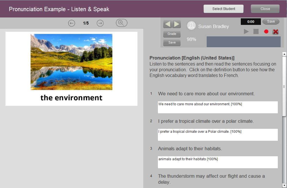 online language teaching platforms -Pronunciation activity