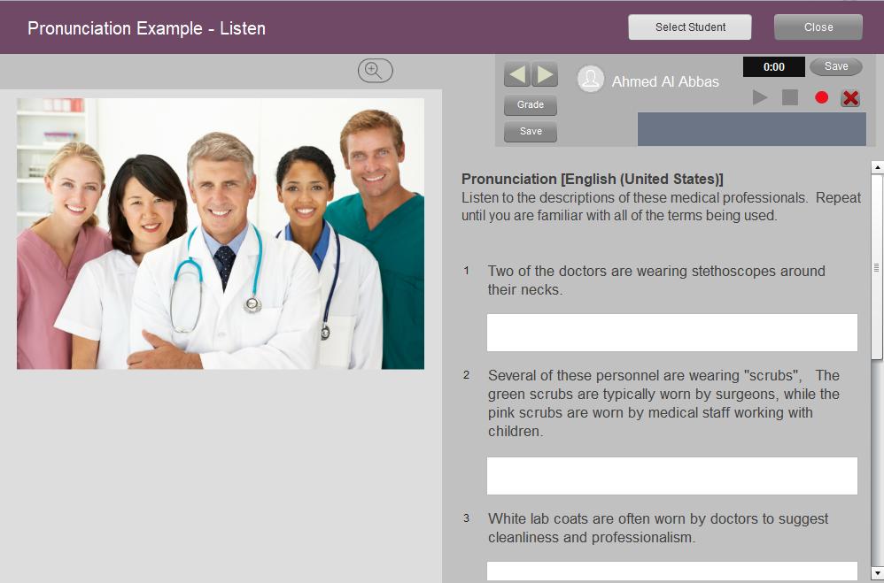 online language teaching platforms- Pronunciation activity